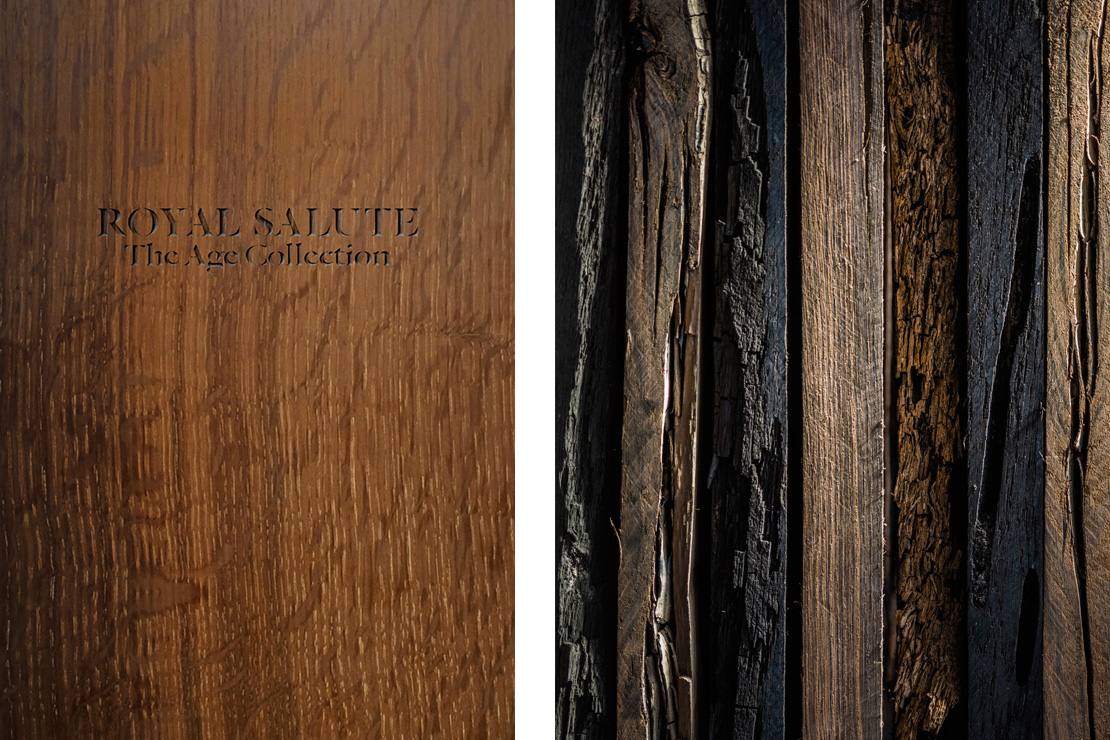 Planks of ancient morta wood - the older the wood, the darker the plank.