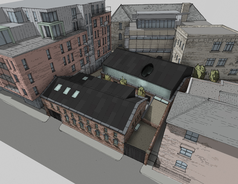 Sketch overview showing the development in context.
