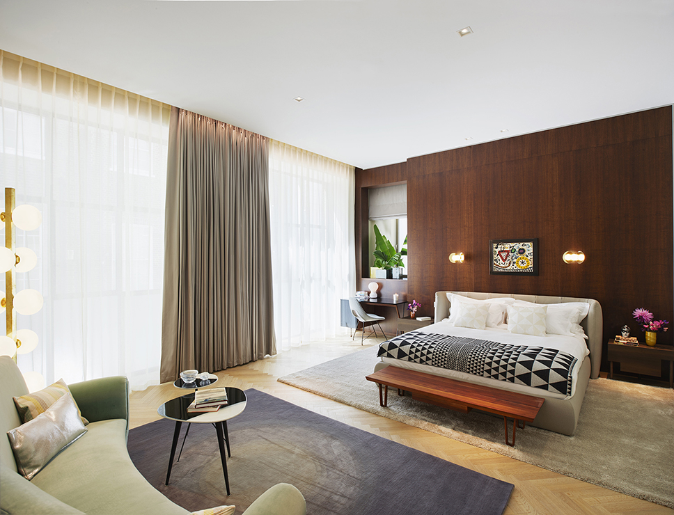 View of a master suite - all apartments were furnished differently.